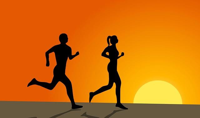Blog post couple running
