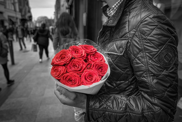 blog pix art of subtlety man with roses