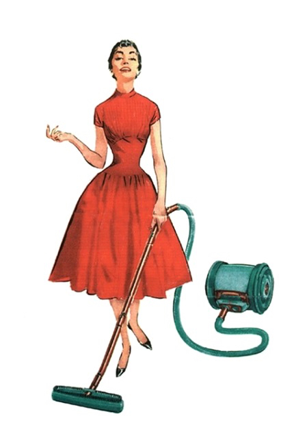 blox pix woman vacuuming